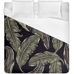 Jungle Leaves Tropical Pattern Duvet Cover (king Size)