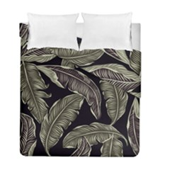 Jungle Leaves Tropical Pattern Duvet Cover Double Side (full/ Double Size) by Nexatart