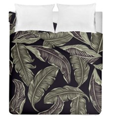Jungle Leaves Tropical Pattern Duvet Cover Double Side (queen Size)