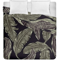 Jungle Leaves Tropical Pattern Duvet Cover Double Side (king Size)