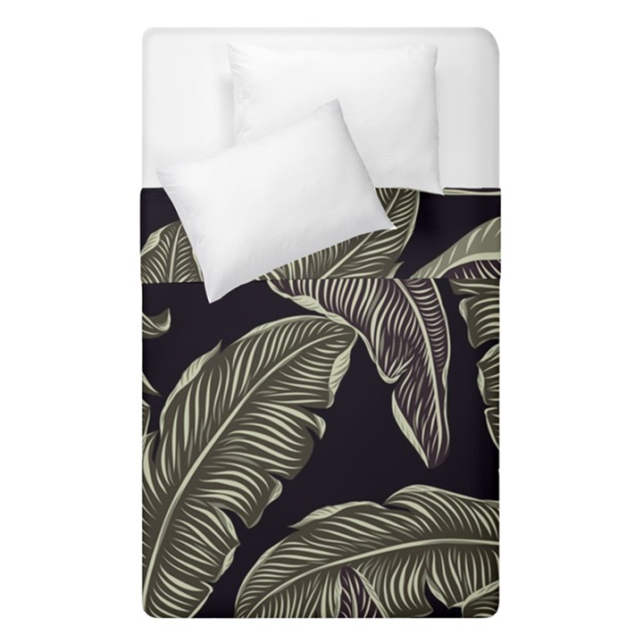 Jungle Leaves Tropical Pattern Duvet Cover Double Side (Single Size)