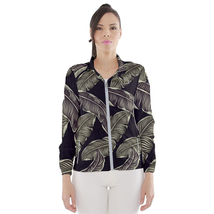 Jungle Leaves Tropical Pattern Windbreaker (Women)