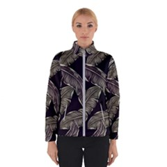 Jungle Leaves Tropical Pattern Winter Jacket
