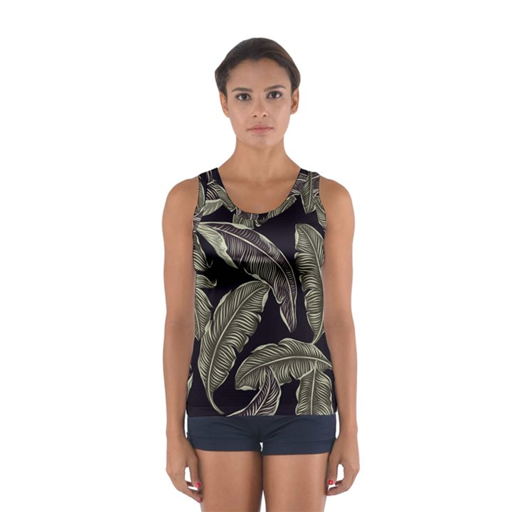 Jungle Leaves Tropical Pattern Sport Tank Top