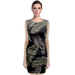 Jungle Leaves Tropical Pattern Classic Sleeveless Midi Dress