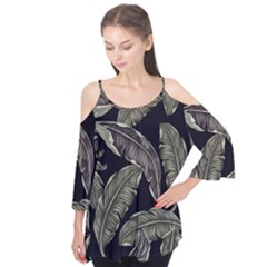 Jungle Leaves Tropical Pattern Flutter Tees
