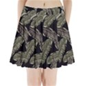 Jungle Leaves Tropical Pattern Pleated Mini Skirt View1