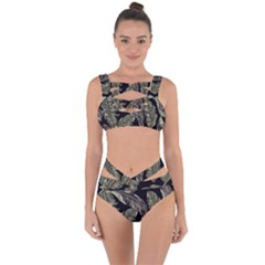 Jungle Leaves Tropical Pattern Bandaged Up Bikini Set  by Nexatart