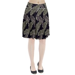 Jungle Leaves Tropical Pattern Pleated Skirt by Nexatart