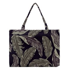 Jungle Leaves Tropical Pattern Medium Tote Bag