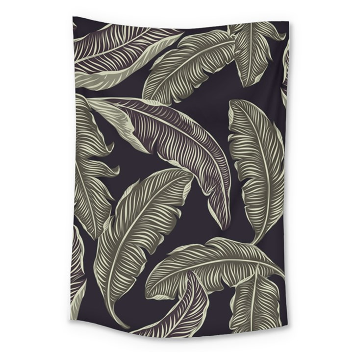 Jungle Leaves Tropical Pattern Large Tapestry