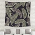 Jungle Leaves Tropical Pattern Square Tapestry (Large) View2