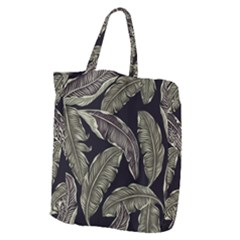 Jungle Leaves Tropical Pattern Giant Grocery Tote
