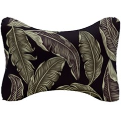 Jungle Leaves Tropical Pattern Seat Head Rest Cushion by Nexatart