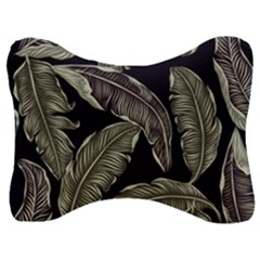 Jungle Leaves Tropical Pattern Velour Seat Head Rest Cushion