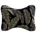 Jungle Leaves Tropical Pattern Velour Seat Head Rest Cushion View1