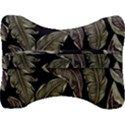 Jungle Leaves Tropical Pattern Velour Seat Head Rest Cushion View2