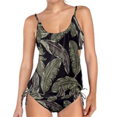 Jungle Leaves Tropical Pattern Tankini Set by Nexatart