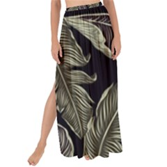 Jungle Leaves Tropical Pattern Maxi Chiffon Tie Up Sarong by Nexatart