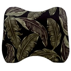 Jungle Leaves Tropical Pattern Velour Head Support Cushion by Nexatart