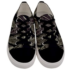 Jungle Leaves Tropical Pattern Men s Low Top Canvas Sneakers
