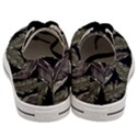Jungle Leaves Tropical Pattern Men s Low Top Canvas Sneakers View4