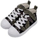 Jungle Leaves Tropical Pattern Kid s Mid-Top Canvas Sneakers View2