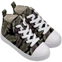 Jungle Leaves Tropical Pattern Kid s Mid-Top Canvas Sneakers View3