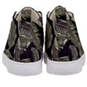 Jungle Leaves Tropical Pattern Kid s Mid-Top Canvas Sneakers View4