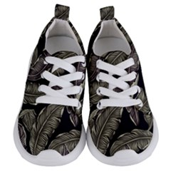 Jungle Leaves Tropical Pattern Kids  Lightweight Sports Shoes