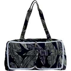 Jungle Leaves Tropical Pattern Multi Function Bag	 by Nexatart