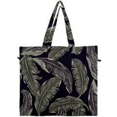 Jungle Leaves Tropical Pattern Canvas Travel Bag by Nexatart