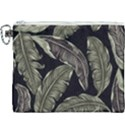 Jungle Leaves Tropical Pattern Canvas Cosmetic Bag (XXXL) View1