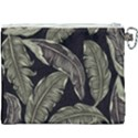 Jungle Leaves Tropical Pattern Canvas Cosmetic Bag (XXXL) View2
