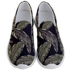 Jungle Leaves Tropical Pattern Men s Lightweight Slip Ons