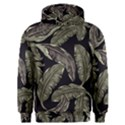 Jungle Leaves Tropical Pattern Men s Overhead Hoodie View1