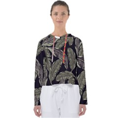Jungle Leaves Tropical Pattern Women s Slouchy Sweat