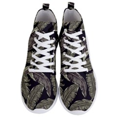 Jungle Leaves Tropical Pattern Men s Lightweight High Top Sneakers