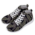 Jungle Leaves Tropical Pattern Men s Lightweight High Top Sneakers View2