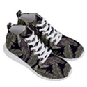 Jungle Leaves Tropical Pattern Men s Lightweight High Top Sneakers View3