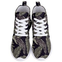 Jungle Leaves Tropical Pattern Women s Lightweight High Top Sneakers