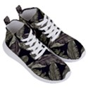 Jungle Leaves Tropical Pattern Women s Lightweight High Top Sneakers View3