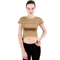 Gingerbread Christmas Crew Neck Crop Top
