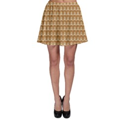 Gingerbread Christmas Skater Skirt