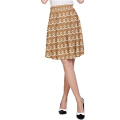 Gingerbread Christmas A-Line Skirt