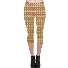 Gingerbread Christmas Capri Leggings
