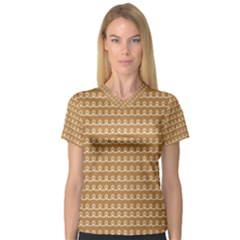 Gingerbread Christmas V-Neck Sport Mesh Tee