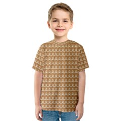 Gingerbread Christmas Kids  Sport Mesh Tee