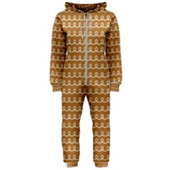 Gingerbread Christmas Hooded Jumpsuit (Ladies)