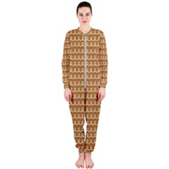 Gingerbread Christmas OnePiece Jumpsuit (Ladies)